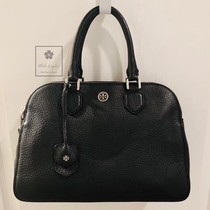 Tory Burch - Robinson Pebbled Triple-Zip Satchel